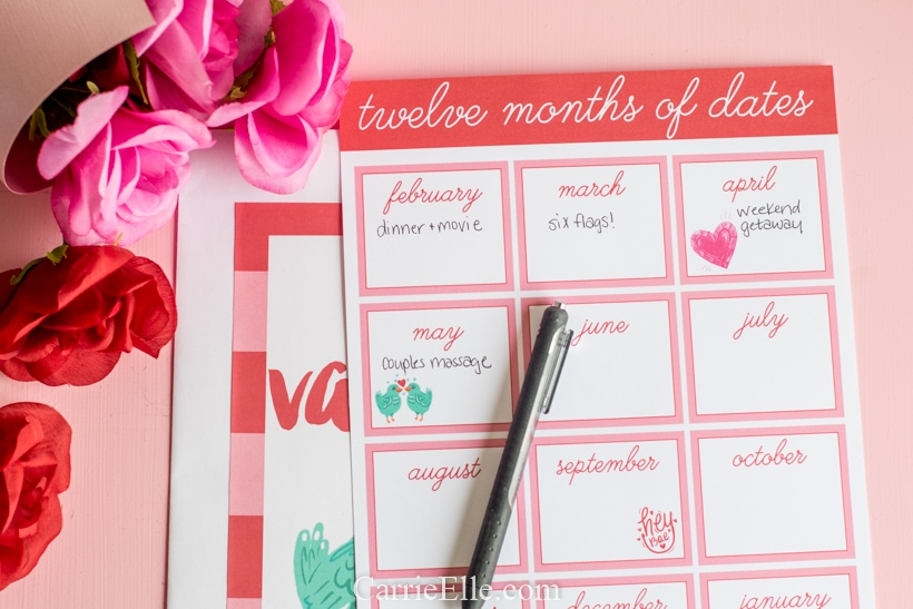 12 Months of Dates CarrieElle.com
