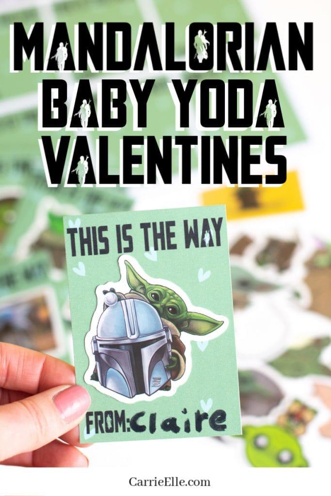 Mandalorian Baby Yoda Valentines CarrieElle.com