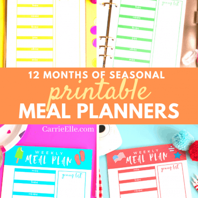 Printable Seasonal Meal Planners CarrieElle.com