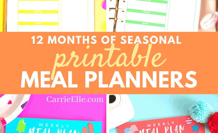 Printable Seasonal Meal Planners