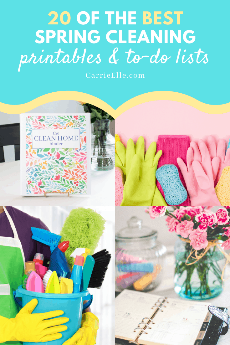Spring Cleaning Printables CarrieElle.com