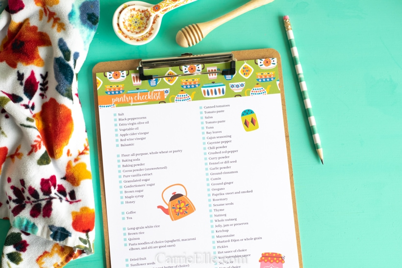 Printable Pantry Checklist CarrieElle.com