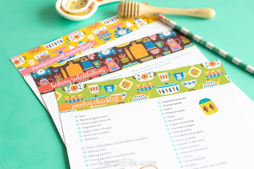 Free Kitchen Printables CarrieElle.com