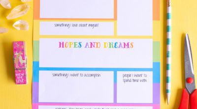 Printable Vision Board for Kids CarrieElle.com