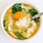 Instant Pot Potsticker Soup CarrieElle.com