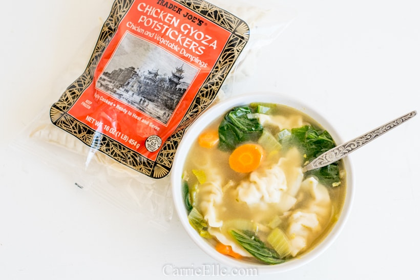 Trader Joe's Instant Pot Potsticker Soup CarrieElle.com