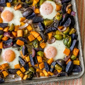Sheet Pan Sweet Potato Hash