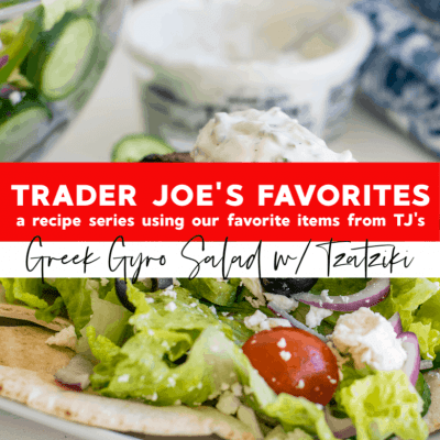 Greek Gyro Salad with Tzatziki