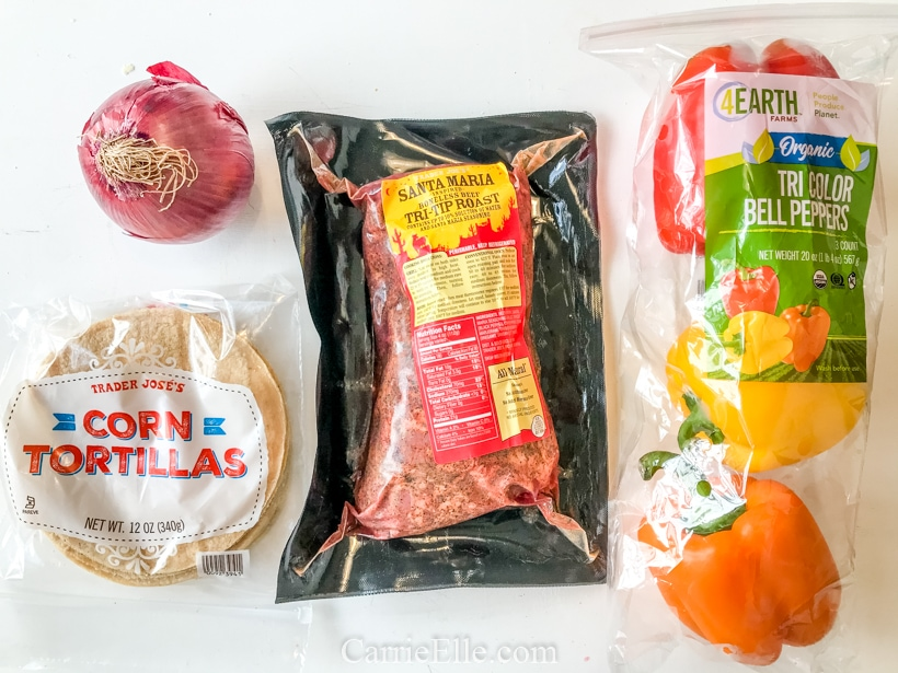 Trader Joe's Tri-ip Instant Pot Fajitas CarrieElle.com