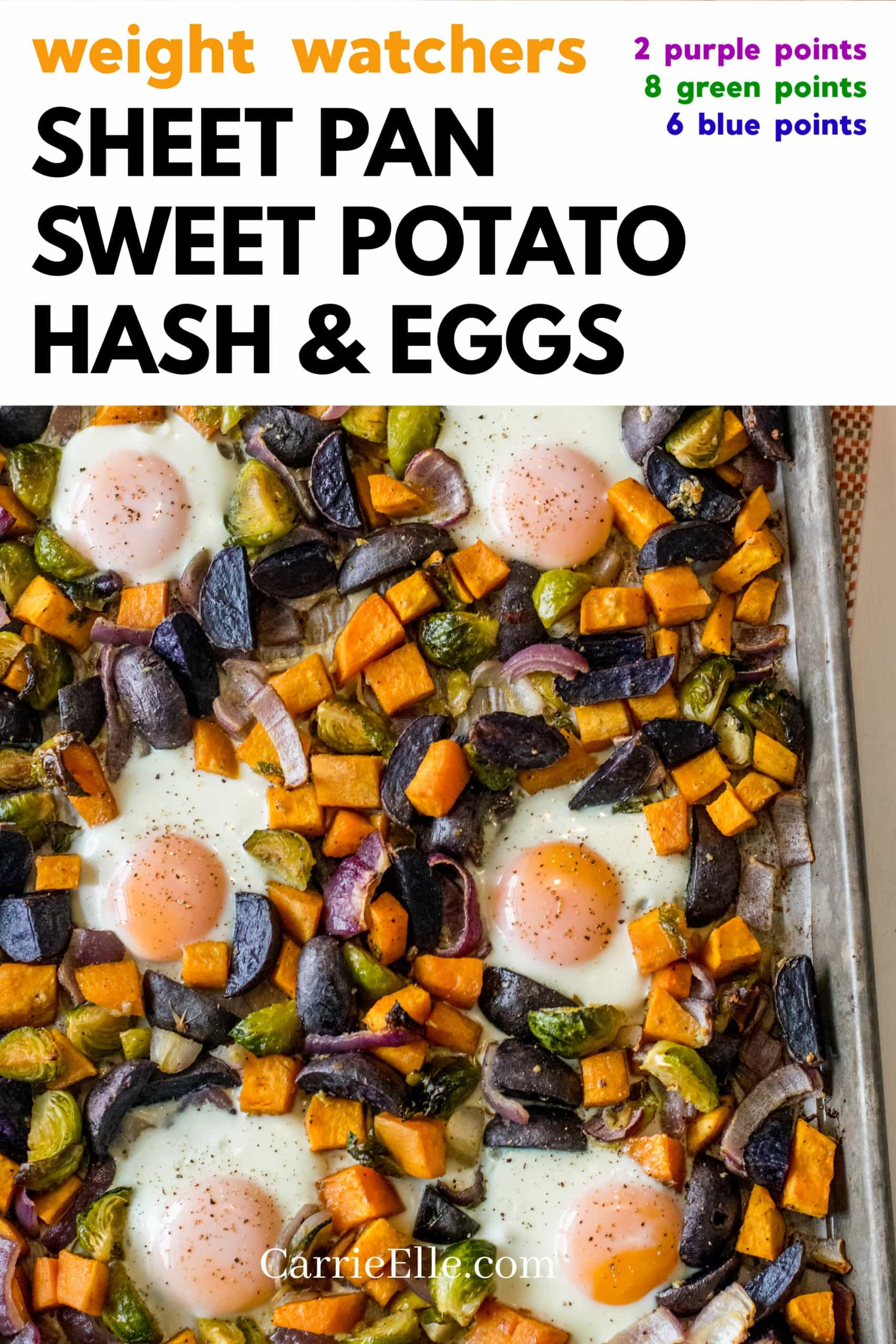 Weight Watchers Sheet Pan Breakfast Hash CarrieElle.com
