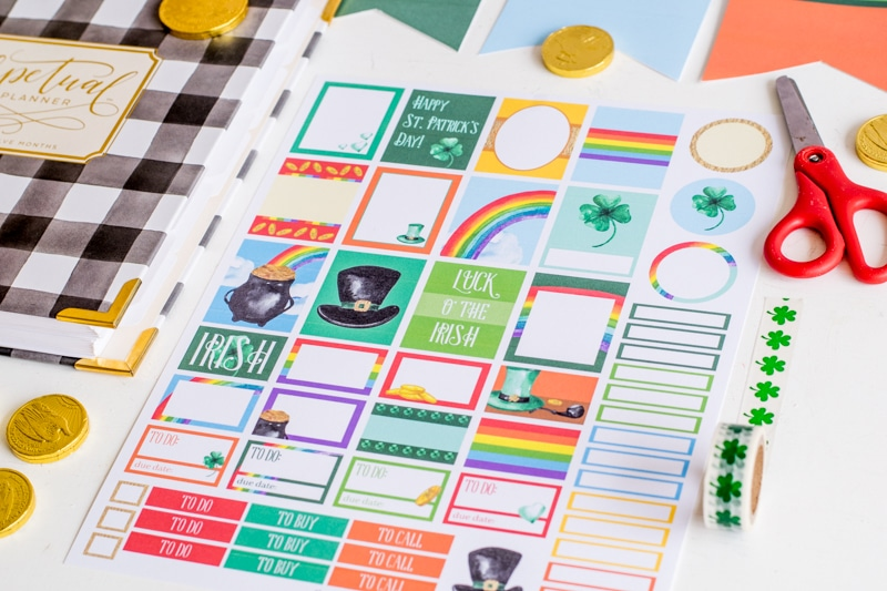 St. Patrick's Day Planner Stickers