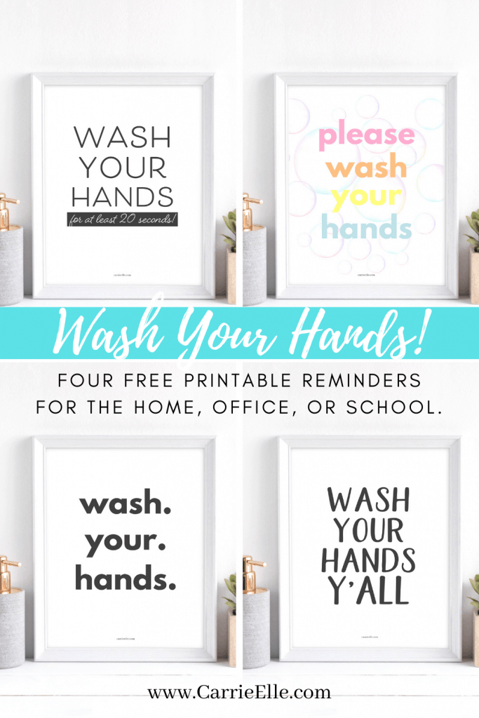 Wash Your Hands Printables from CarrieElle