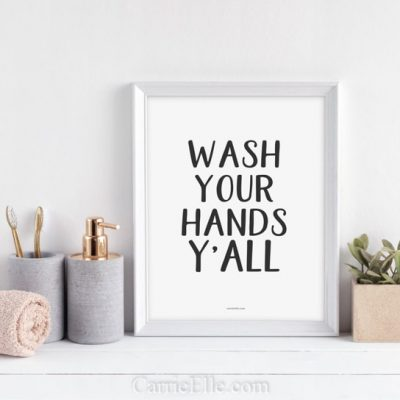 Wash Your Hands Printables for Home, Schools, and Offices