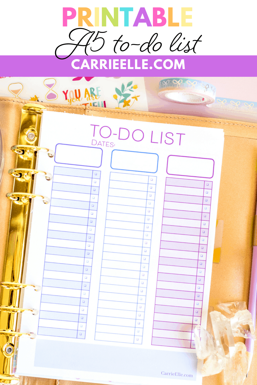 Printable A5 To-Do List