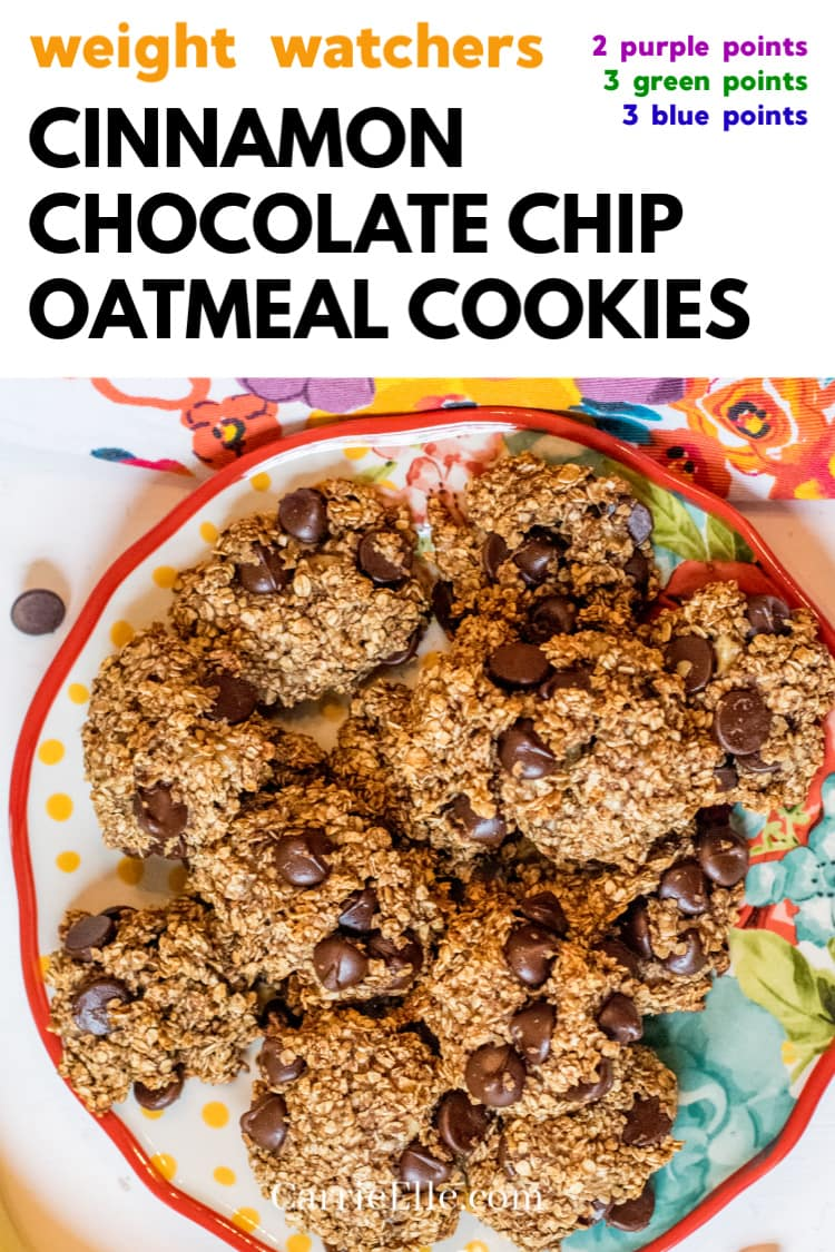 WW Healthy Cinnamon Oatmeal Cookies