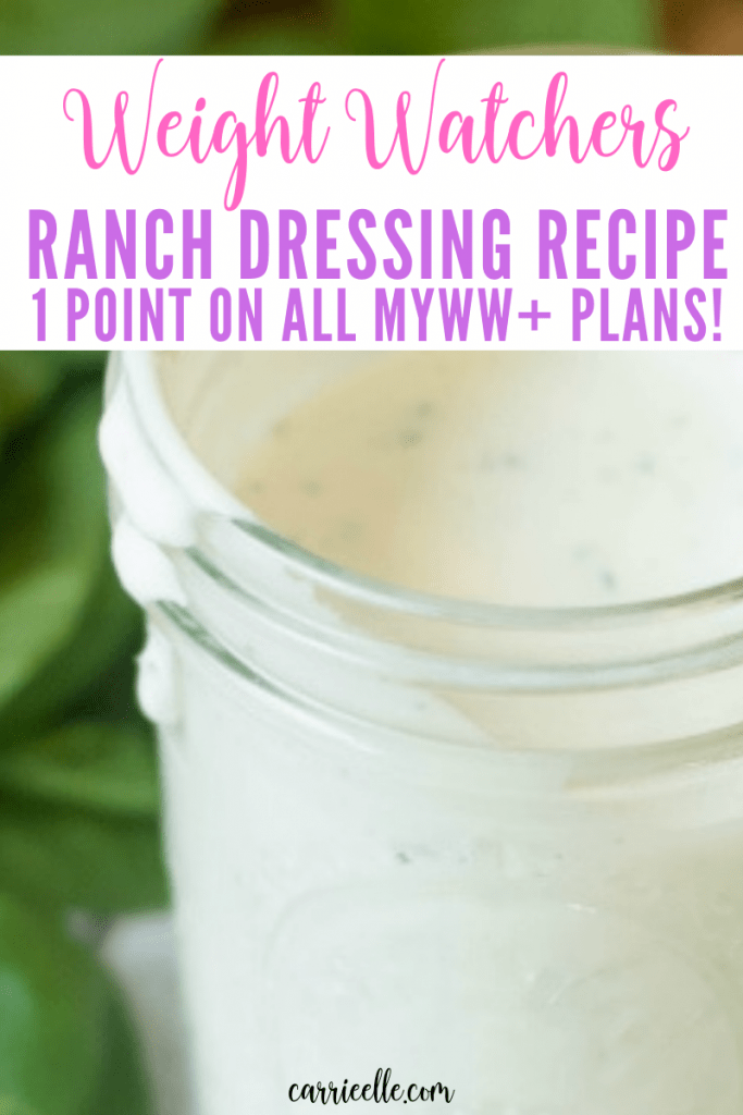 WW Homemade Ranch Dressing 1 Points