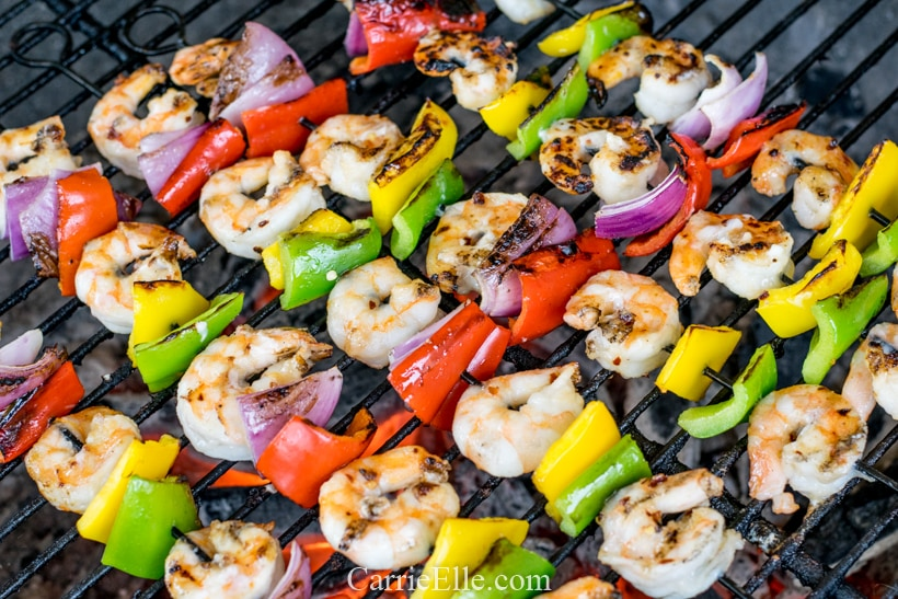 WW Marinated Shrimp Skewers - CarrieElle