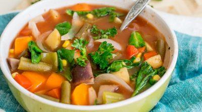 WW Zero Points Crock Pot Vegan Vegetable Soup