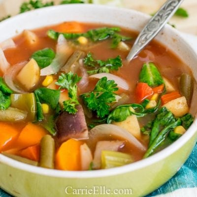 Crock Pot Vegan Vegetable Soup | Weight Watchers | 21 Day Fix