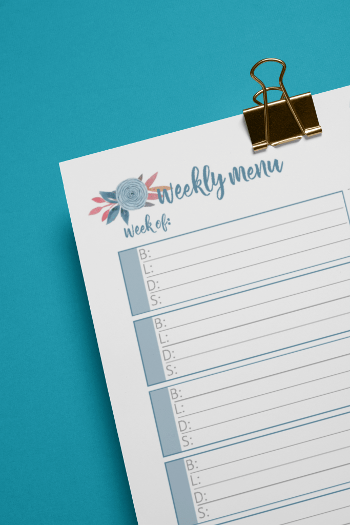 BLD Meal Planning Printable