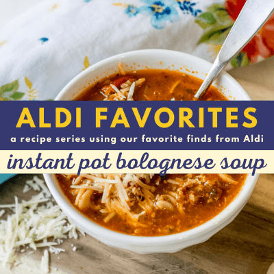 Instant Pot Bolognese Soup with Pasta | 21 Day Fix | Weight Watchers