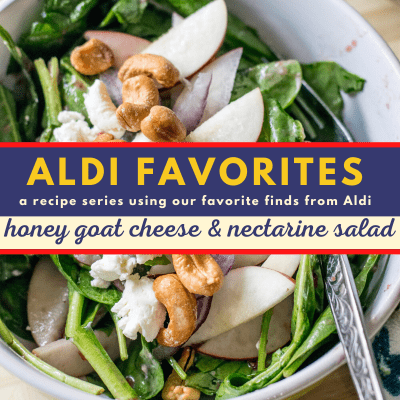 Nectarine and Goat Cheese Salad with Raspberry Dressing