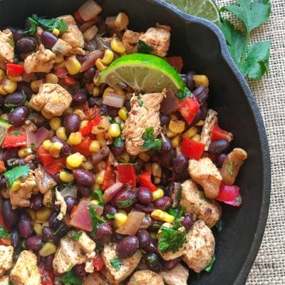 Chicken and Black Bean Burrito Skillet | 21 Day Fix | Weight Watchers