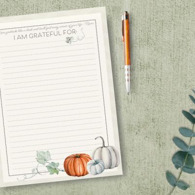 Fall Gratitude Printable