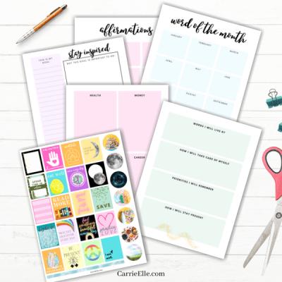 Free Printable Vision Board Kit