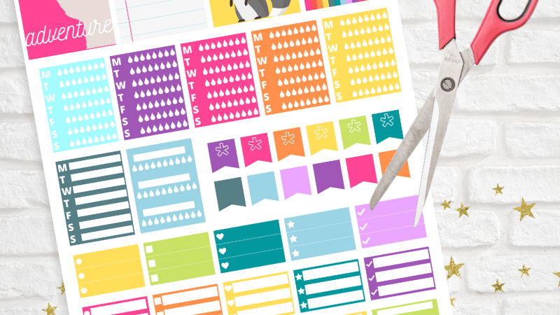 Printable Functional Rainbow Planner Stickers