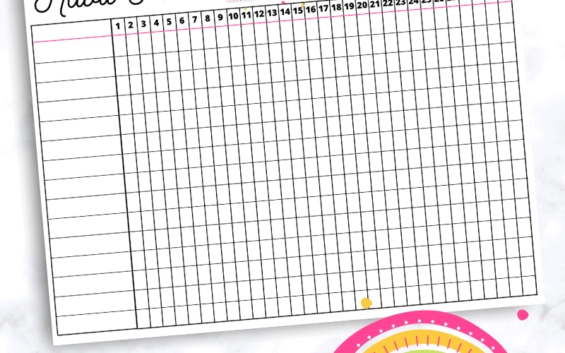Today I'm sharing with you this gorgeous printable rainbow habit tracker! A habit tracker is great to have for your planner and this monthly habit tracker just so happens to be bright, fun, and beautiful which is all the better!