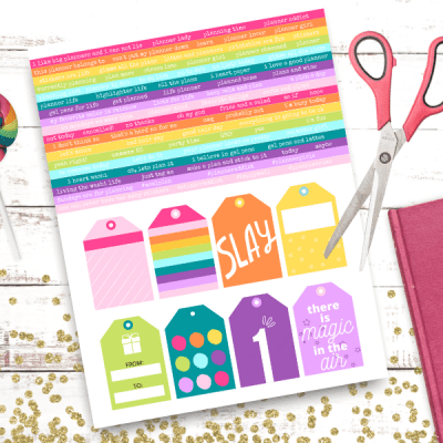 Printable Rainbow Planner Stickers