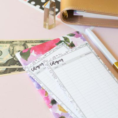 Printable Cash Envelopes