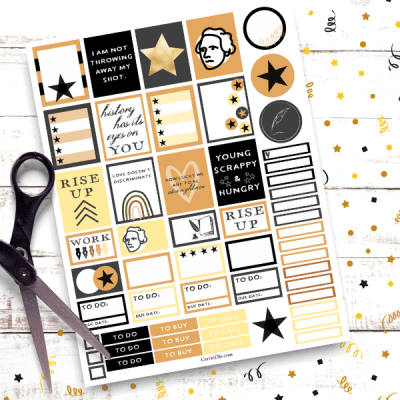 For the Hamilton obsessed I have a special treat...Printable Hamilton planner stickers! These adorable stickers are great for anyone who likes Hamilton and since it's a free printable you never have to stop making Hamilton themed spreads in your planner.
