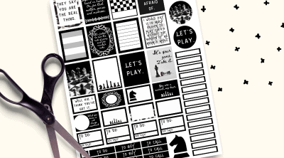 Are you obsessed with The Queen's Gambit?! If not, you are totally missing out! These printable Queens Gambit planner stickers are so fun and cute. Inspired by the Netflix Show The Queen's Gambit!