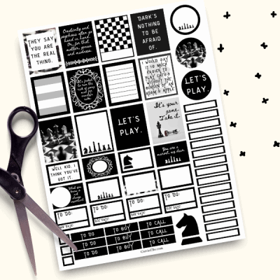 Printable Queens Gambit Planner Stickers