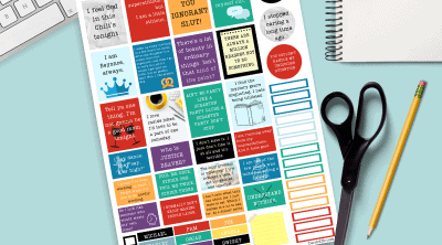 Today I have something so fun to share with you! Printable The Office quotes planner stickers! If you love The Office you will not want to miss out on these gorgeous printable office quotes planner stickers.