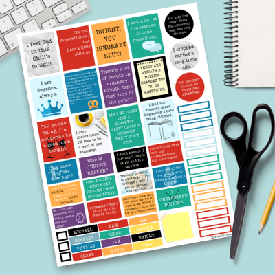 Printable The Office Quotes Planner Stickers