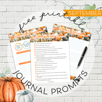 September Journal Prompts, Affirmations, and Journaling Printables