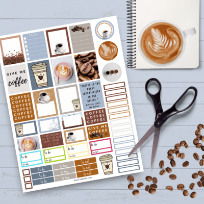 Free Printable Coffee Planner Stickers